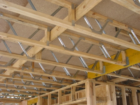 Open Web Floor Trusses with Strongback